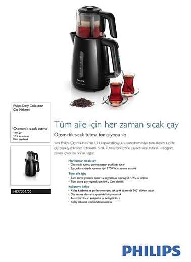 Philips HD7301/00 Daily Collection Çay Makinesi Renkli